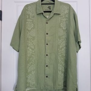 Tommy Bahama green silk shirt XL